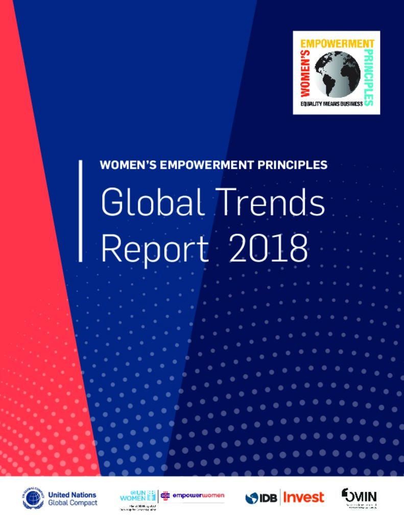 Global Trends Report 2018: Women's Empowerment Principles