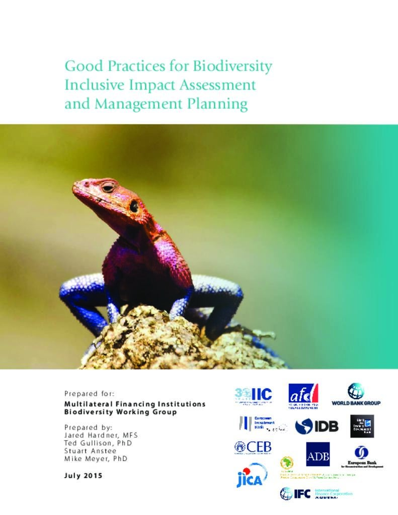 Good Practices for Biodiversity Inclusive Impact Assessment and Management Planning