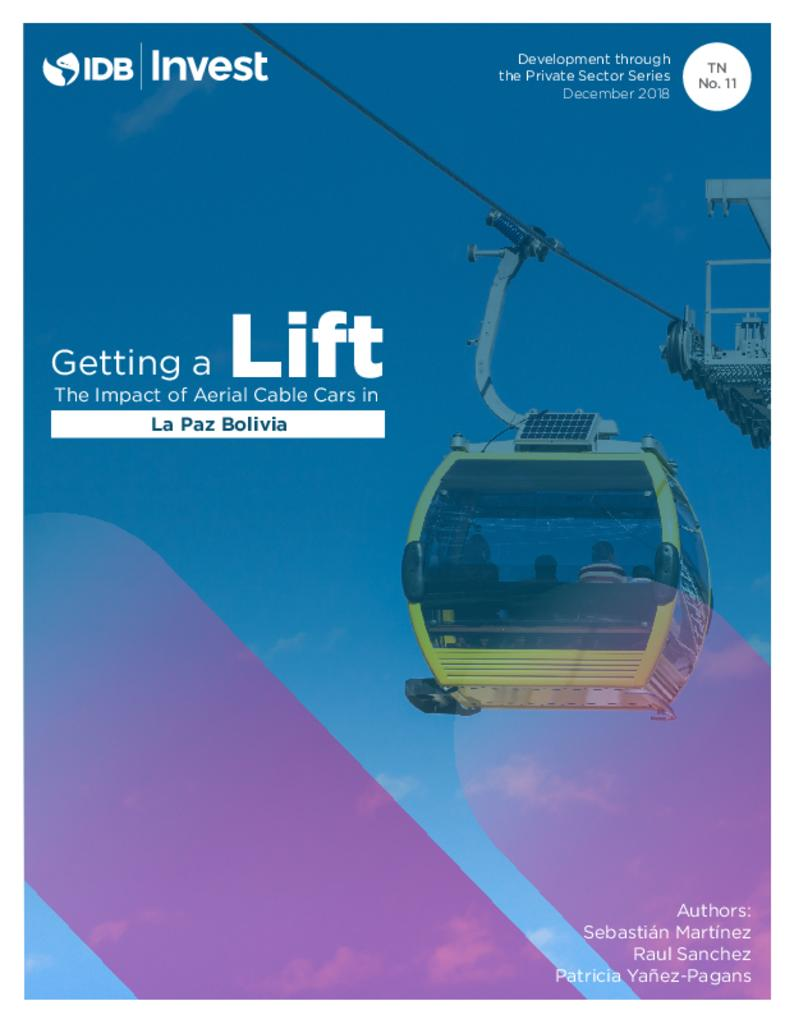 Report: Getting a Lift - The Impact of Aerial Cable Cars in La Paz (Bolivia)