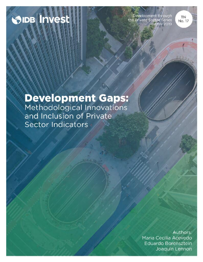 Report - Development Gaps: Methodological Innovations and Inclusion of Private Sector Indicators