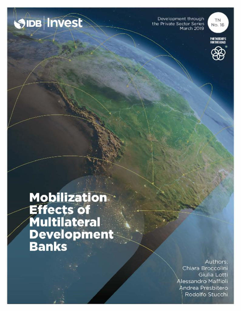 Report: Mobilization Effects of Multilateral Development Banks