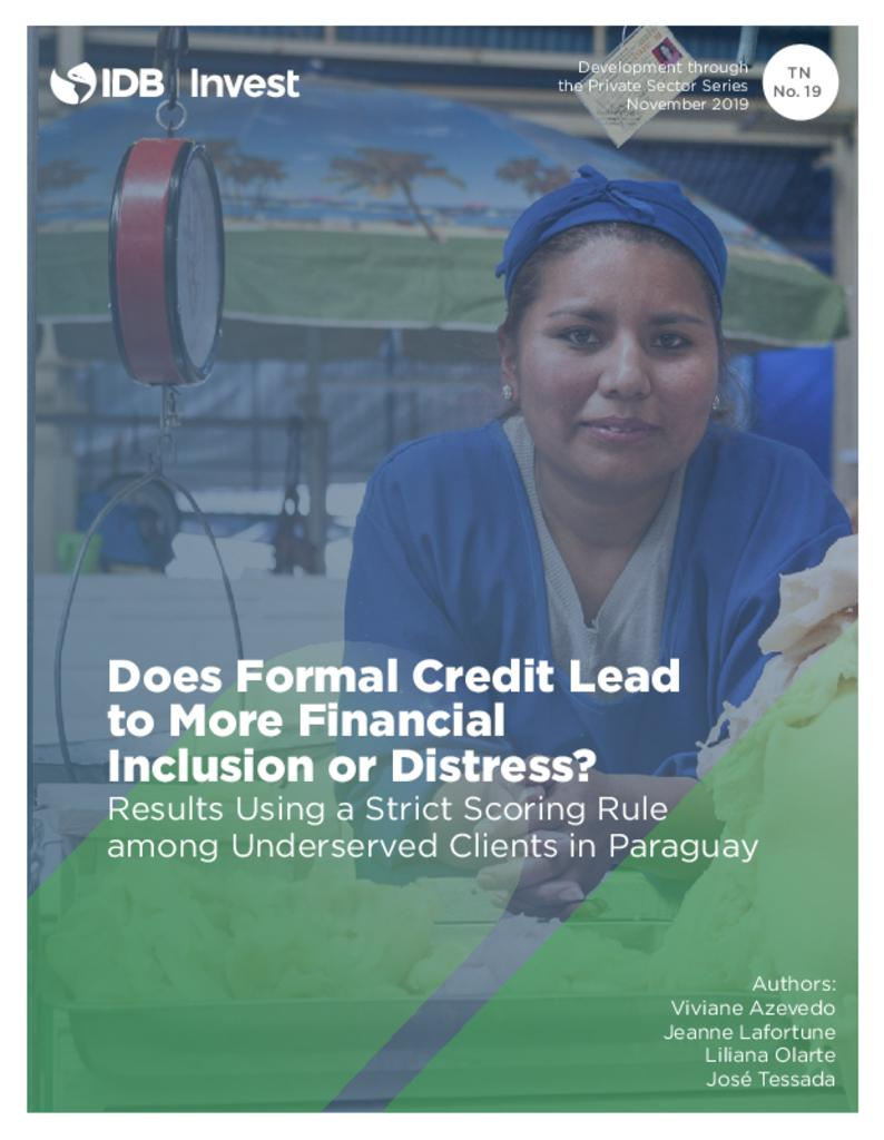 Report: Does Formal Credit Lead to More Financial Inclusion or Distress?