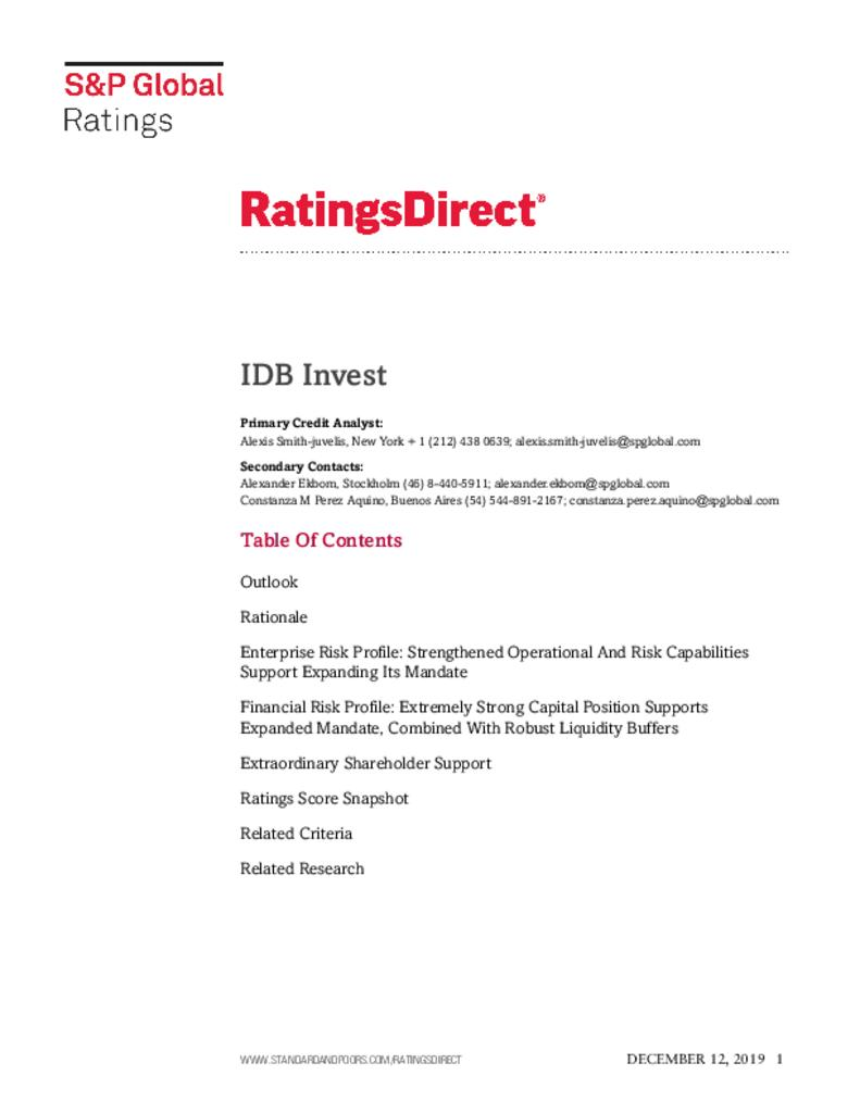 Standard & Poor's - Ratings